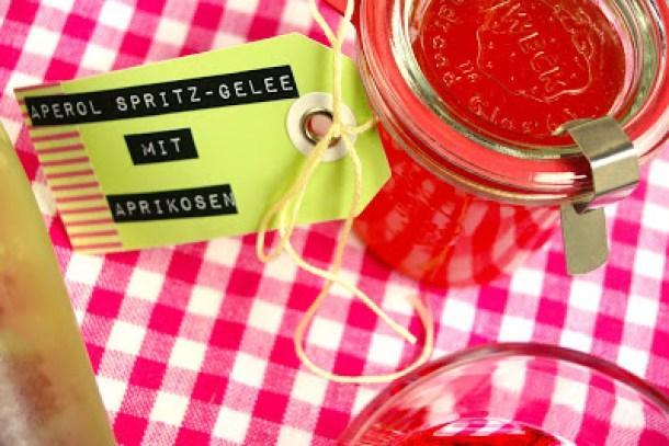Aperol Spritz-Gelee mit Aprikosen