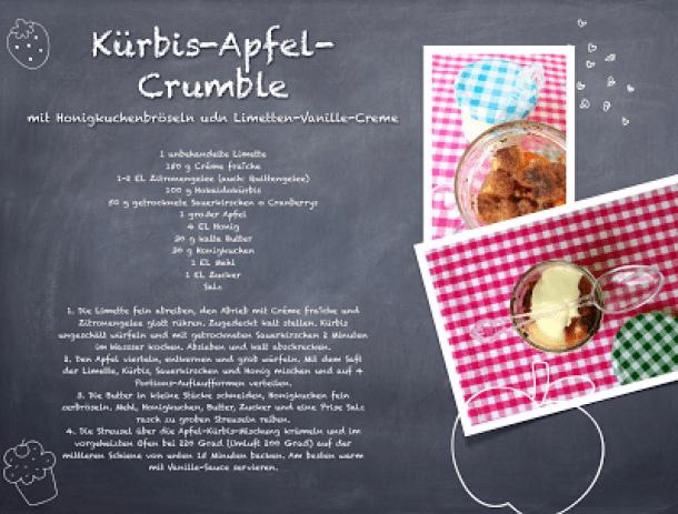 Kürbis-Apfel-Crumble