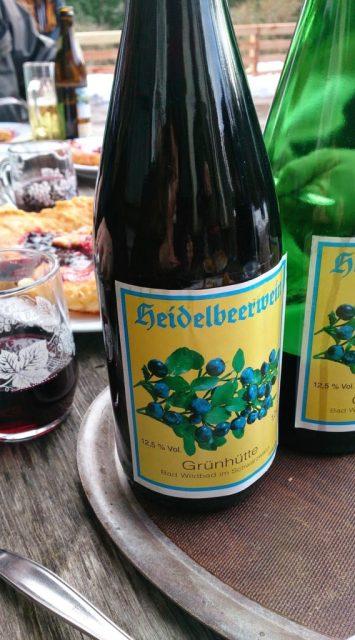 Heidelbeer- Wein, Pfannkuchen, Grünhütte