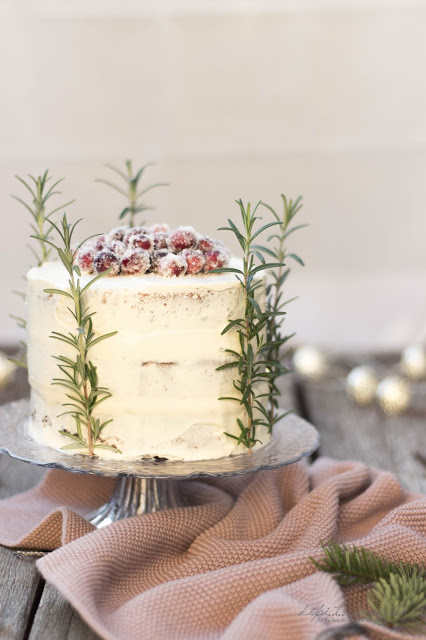 Cranberry White Chocolate Buttercream Cake