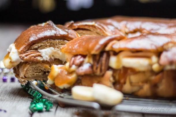 Gefüllte Zimtschnecke, Fat Tuesday King Cake
