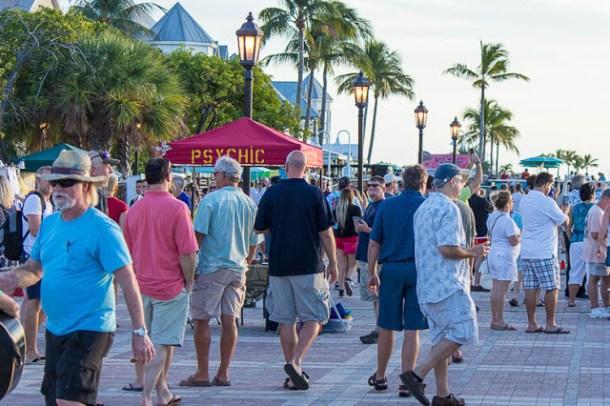 Typisch Key West, Florida - Mallory Square, zum Sonnenuntergang - dipitontour