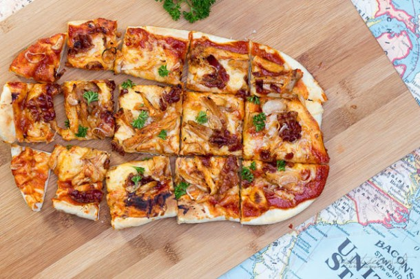 #7Tage7Blogs - USA kulinarisch - BBQ Chicken Flatbread