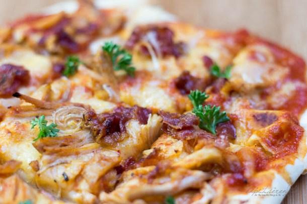 BBQ Hähnchen Pizza