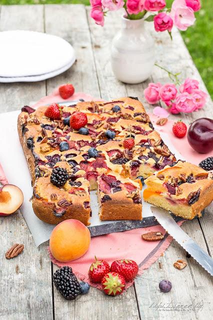 Sommerlicher Früchte Blechkuchen - verry berry ich backs mir