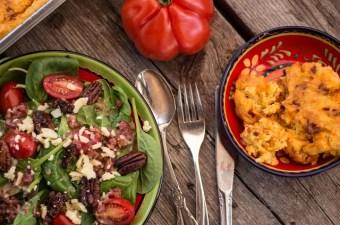 Spinatsalat Blauschimmel Kaese und Bacon Dressing Teuflischen Nuesse