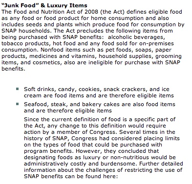 """what you cannot buy with food stamps"""