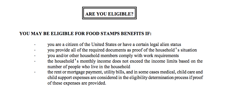 Human Resources Food Stamp Office