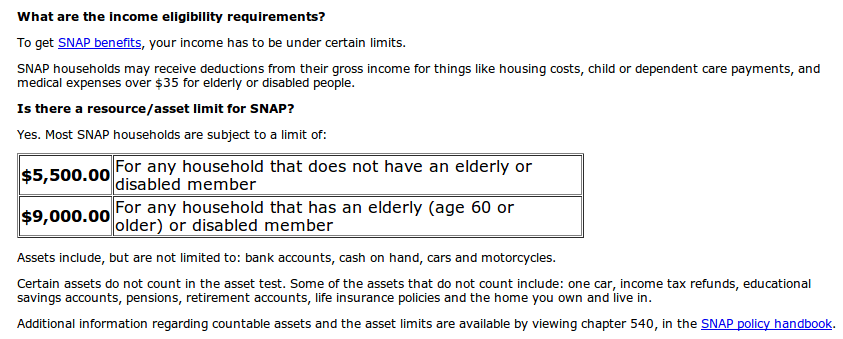 Food Stamp Program Application