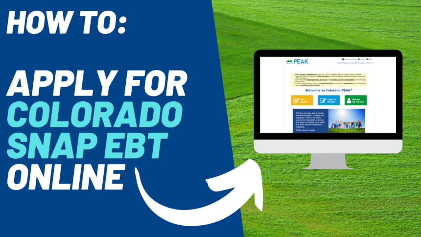 How to Apply for Colorado SNAP EBT Online