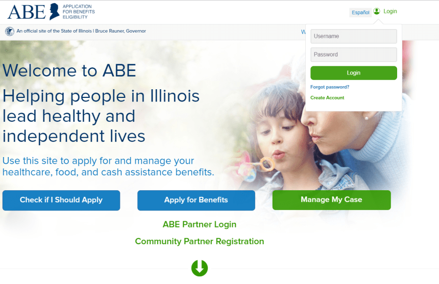 Application for Benefits Eligibility Login