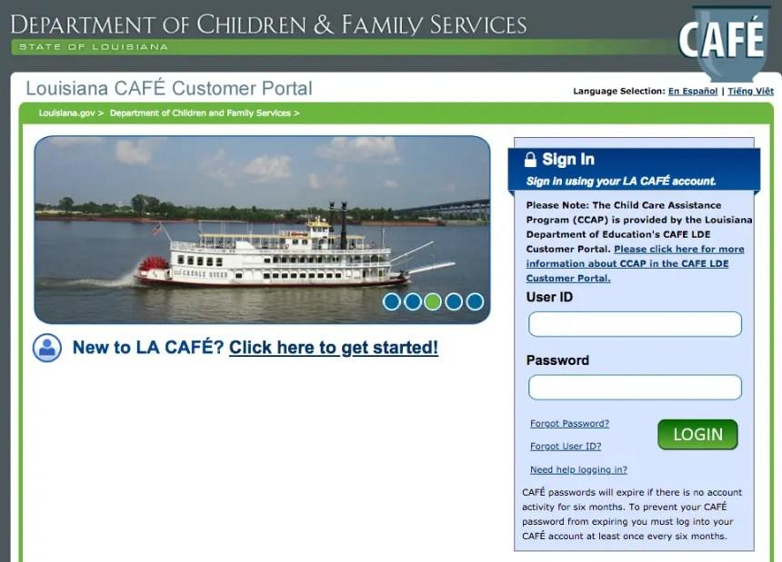 """""""DCFS LA Cafe Account Login Help"""""""