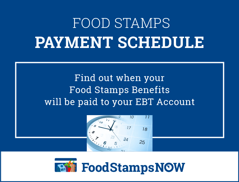 Food Stamps Schedule 2019 Food Stamps Now
