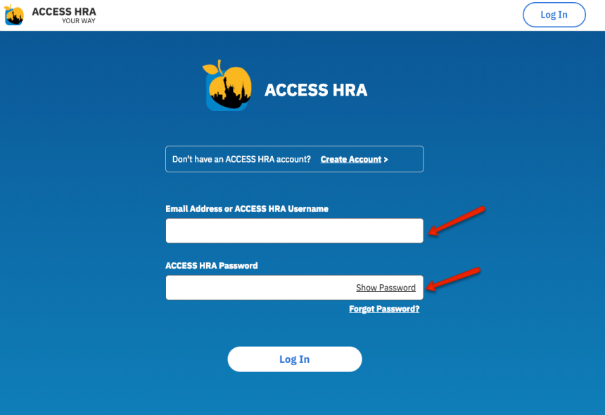 """NYC ACCESS HRA Create Account - 5"""