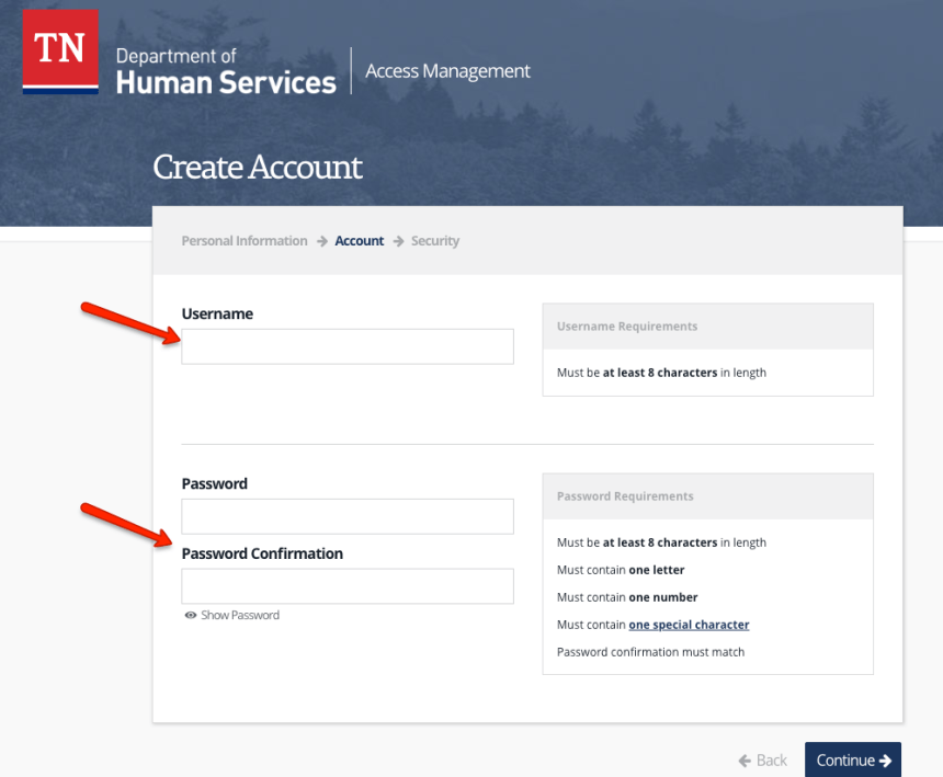 """""""How to Create a Tennessee DHS Account - 1"""""""