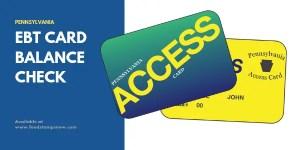 PA EBT Card Balance Check
