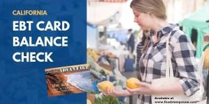 """""""California EBT Card Balance Check"""""""