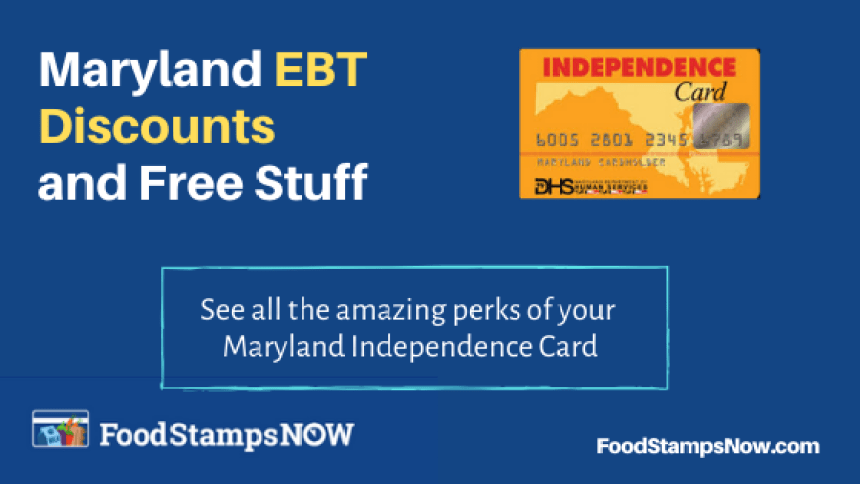 """""""Maryland EBT Discounts and Perks"""""""