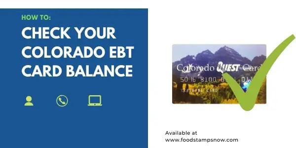 How to Check your Colorado EBT Card Balance