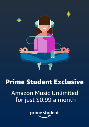 """Amazon Prime Student Music Discount"""