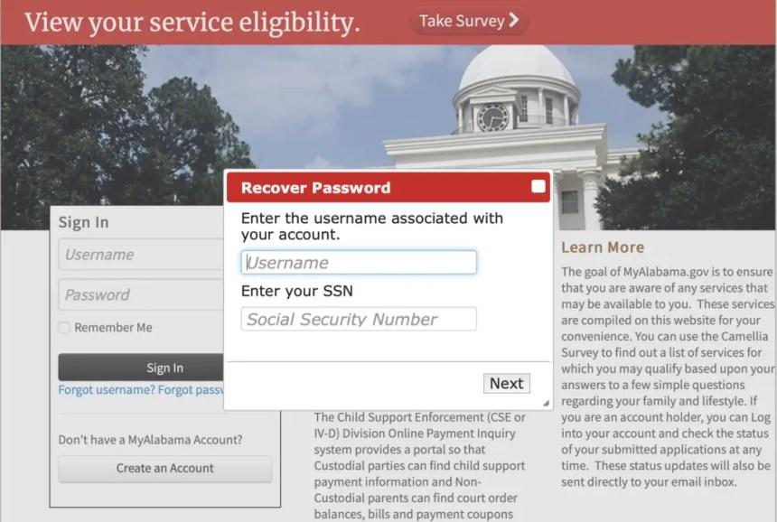 Forgot My Alabama Password
