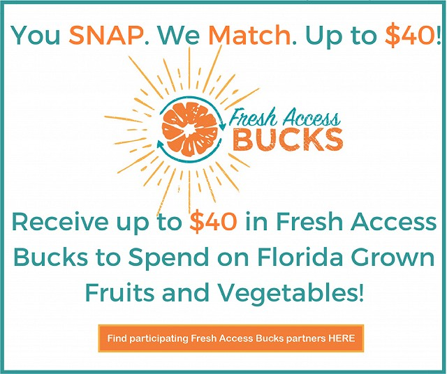 """Florida fresh access bucks program locations"""