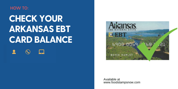 """Arkansas EBT Card Balance"""