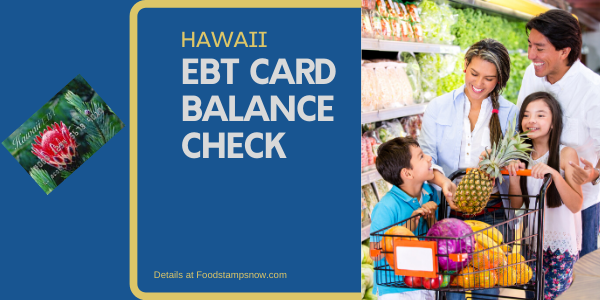 """Check Your Hawaii EBT Card Balance"""