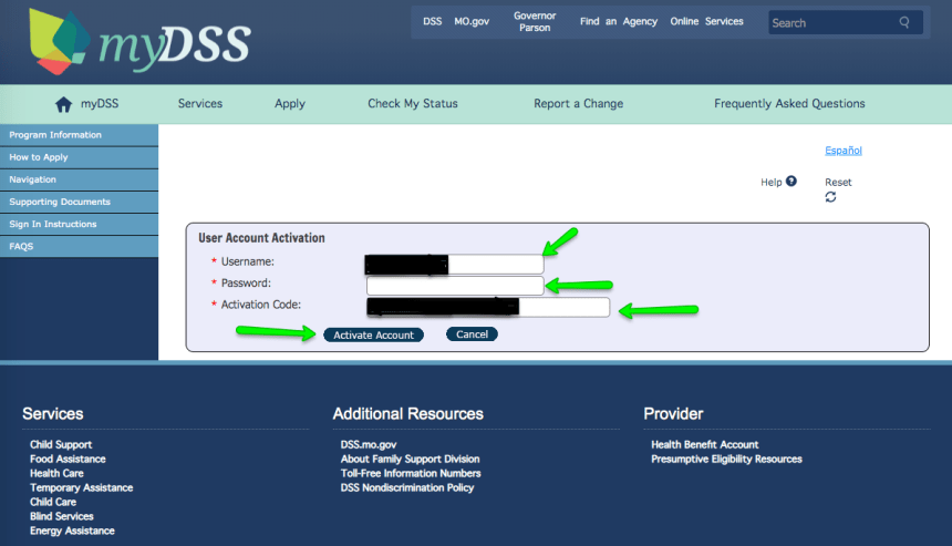 """""""How to Create Mydss Missouri Account - activate your account - 2"""""""