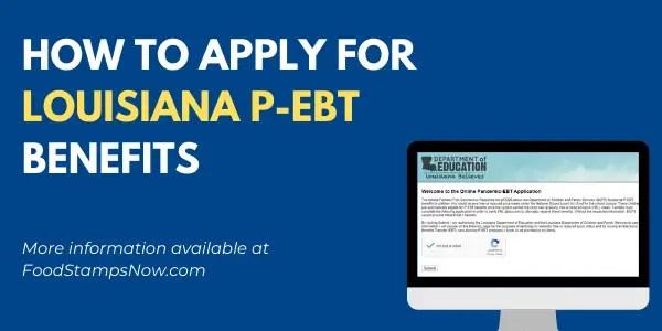 Apply for Louisiana P-EBT Benefits