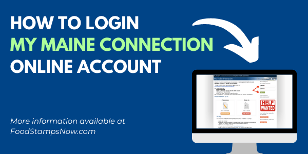 My Maine Connection Login Help