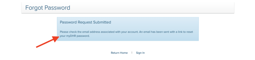 Change Maryland DHR Password
