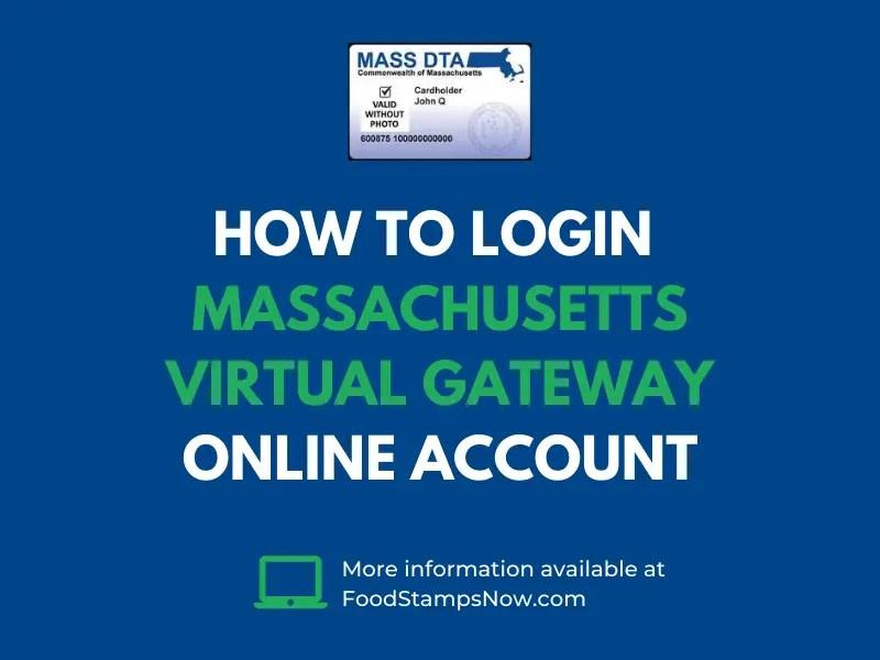 How to login Massachusetts Virtual Gateway Online Account