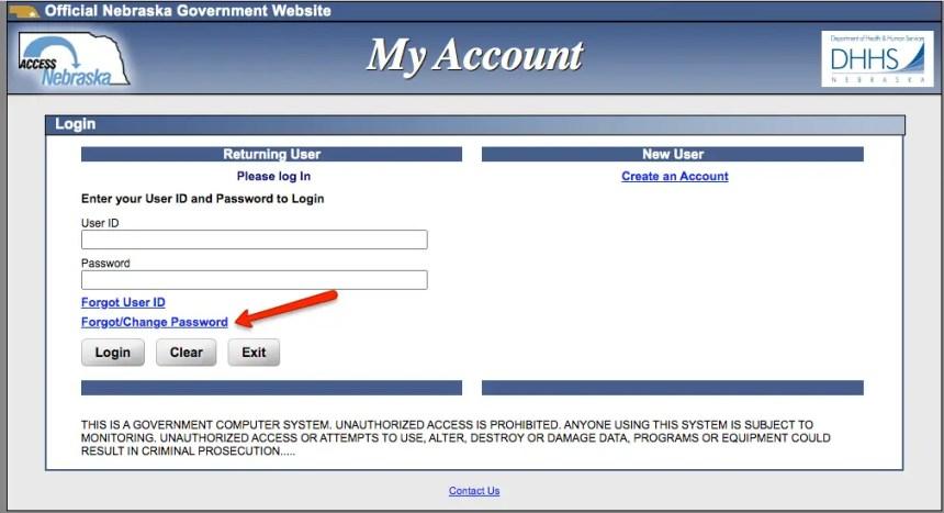 """""""How to reset ACCESSNebraska Password"""""""