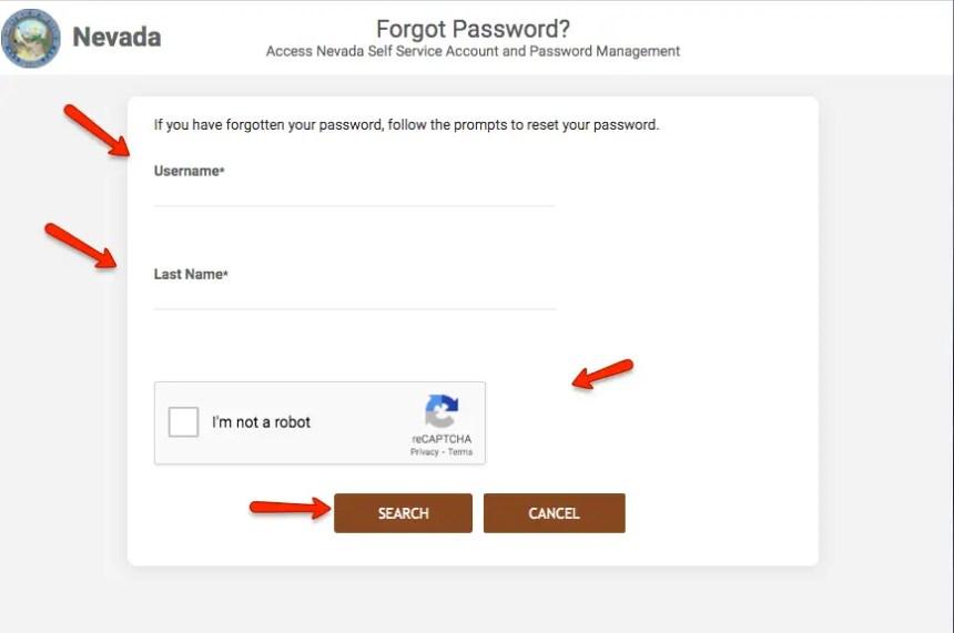 """How to reset Access Nevada Password 1"""