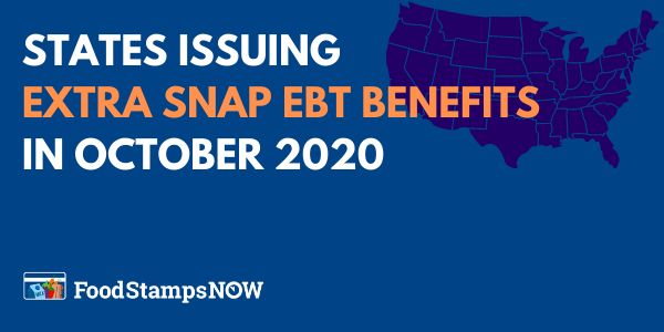 Extra SNAP benefits for October by State