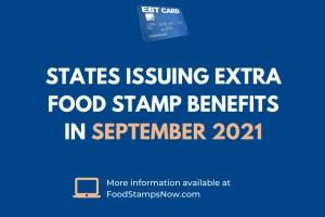 Extra Food Stamp Benefits in September 2021