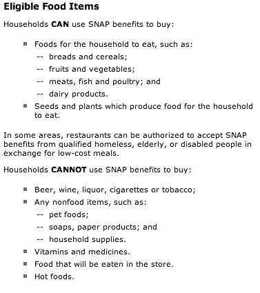 """""""what you can buy with food stamps"""""""