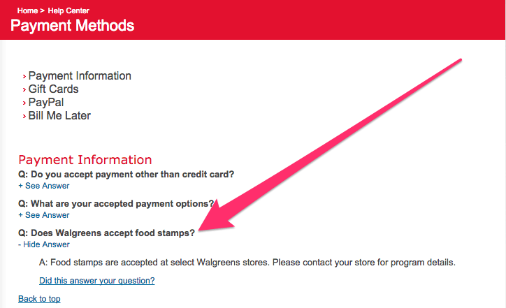 Does Walgreens Accept EBT Card for Food Stamps? - Food