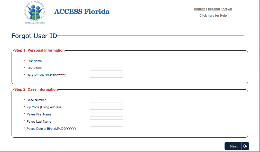 My Access Florida Account Login - Food Stamps Now