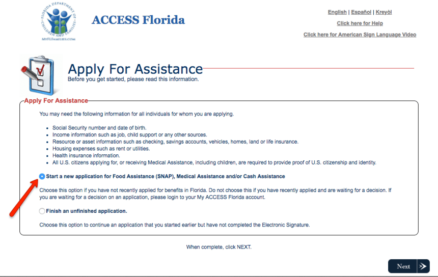 """How to Create a My ACCESS Florida Account"""