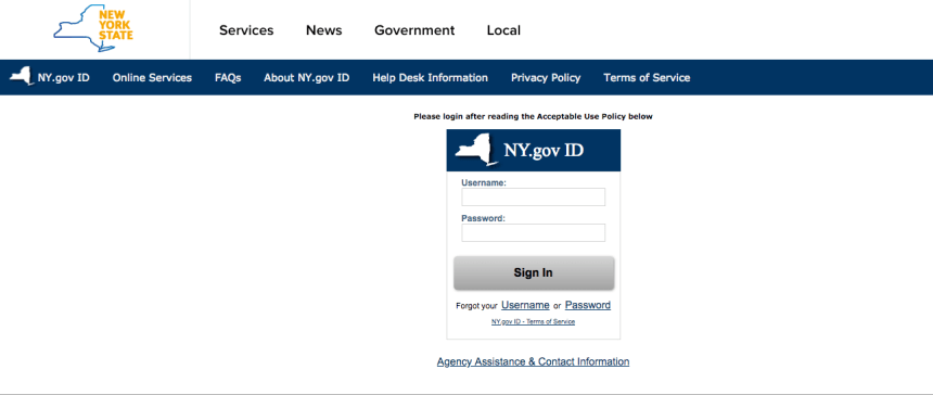 """Mybenefits.ny.gov Account Login"""