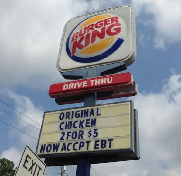 Fast Food Restaurants that accept EBT Food Stamps - Food