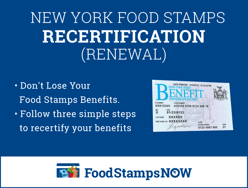 """How to Complete New York Food Stamps Recertification"""