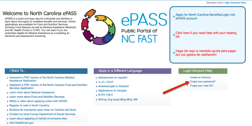 EPass NC Gov Password Reset