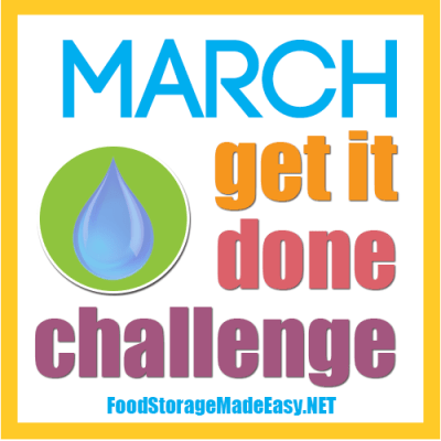 March Get it Done Challenge:  Fill Those Containers