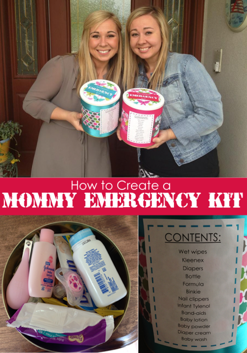 How to Make a Mommy EMERGENCY Car Kit.  Perfect baby shower gift idea for a new Mommy!