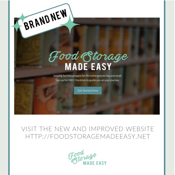 Food Storage Made Easy:  Helping families prepare for life's emergencies big and small.  Visit http://foodstoragemadeeasy.net to learn more.  #foodstorage #emergencypreparedness