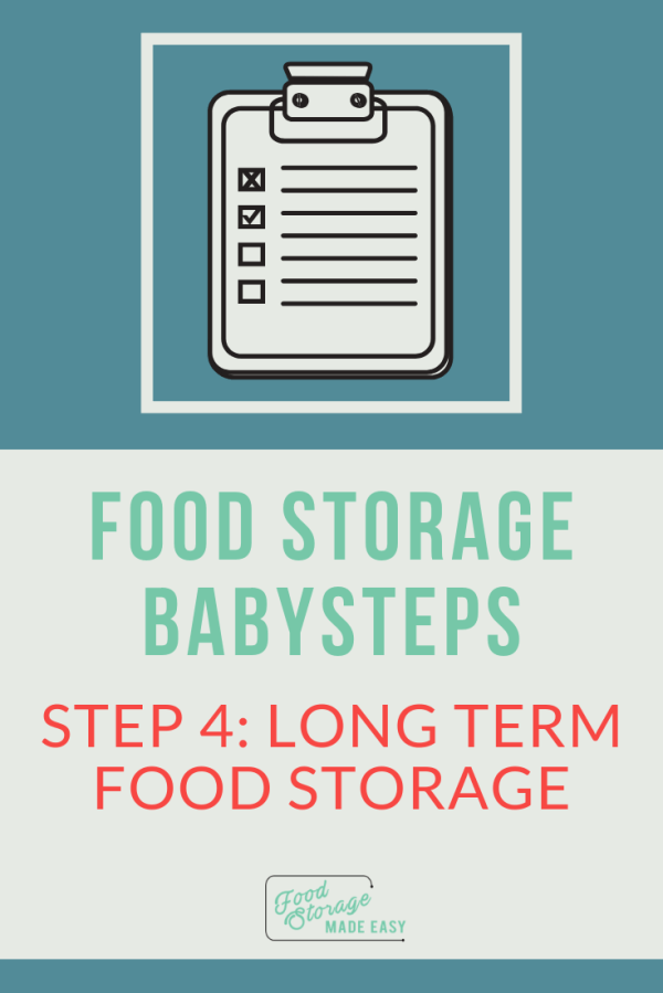 Long Term Food Storage Pin