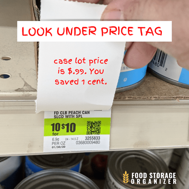 Look Under Price Tag When You Stock Up